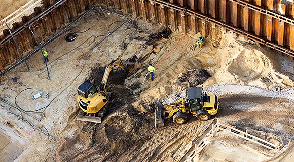 建設現場における仮設構造物のモニタリング